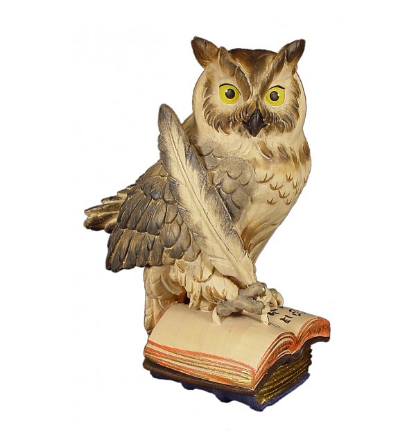 1044 - Owl on book with feather